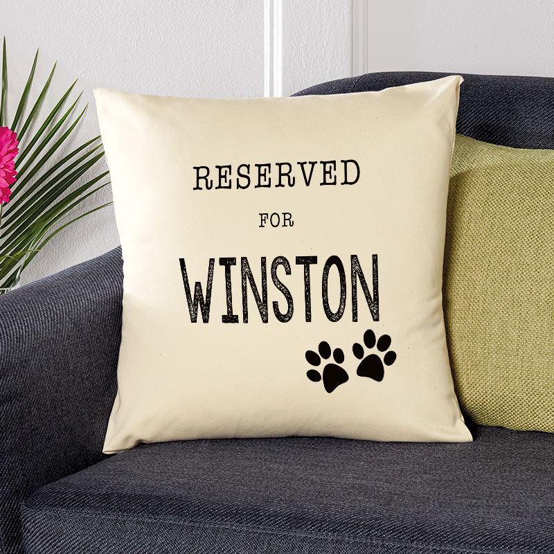 personalised dog cushion