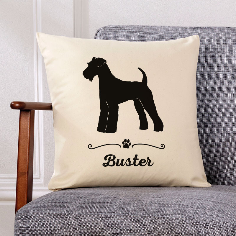 dog name personalised cushion