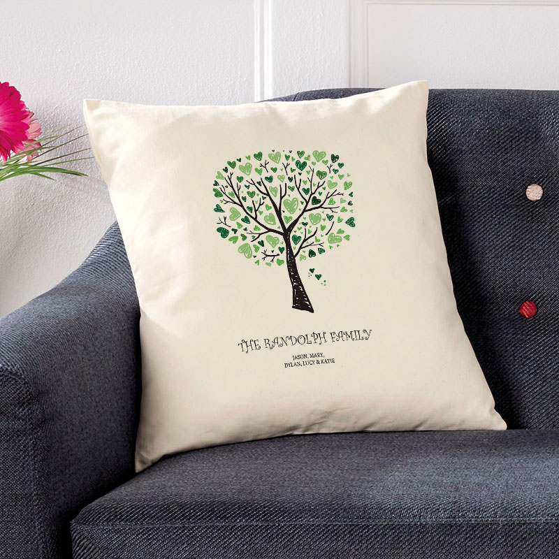 personalised cushion gift family tree
