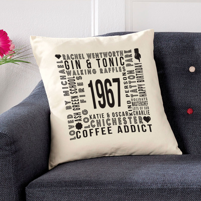 personalised cushion special birthday