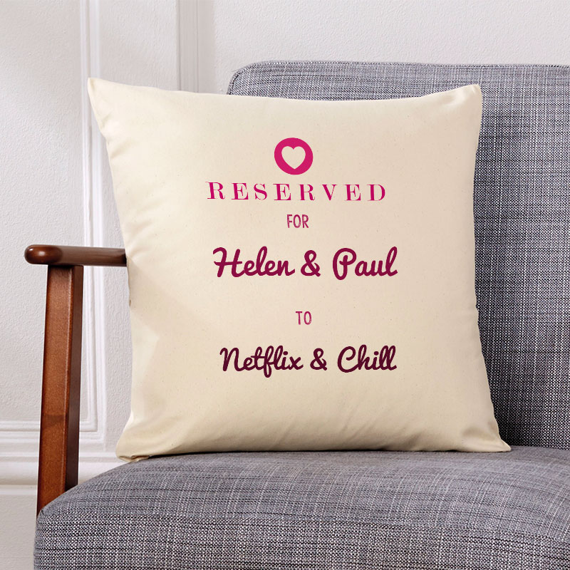 cushion wth your words present