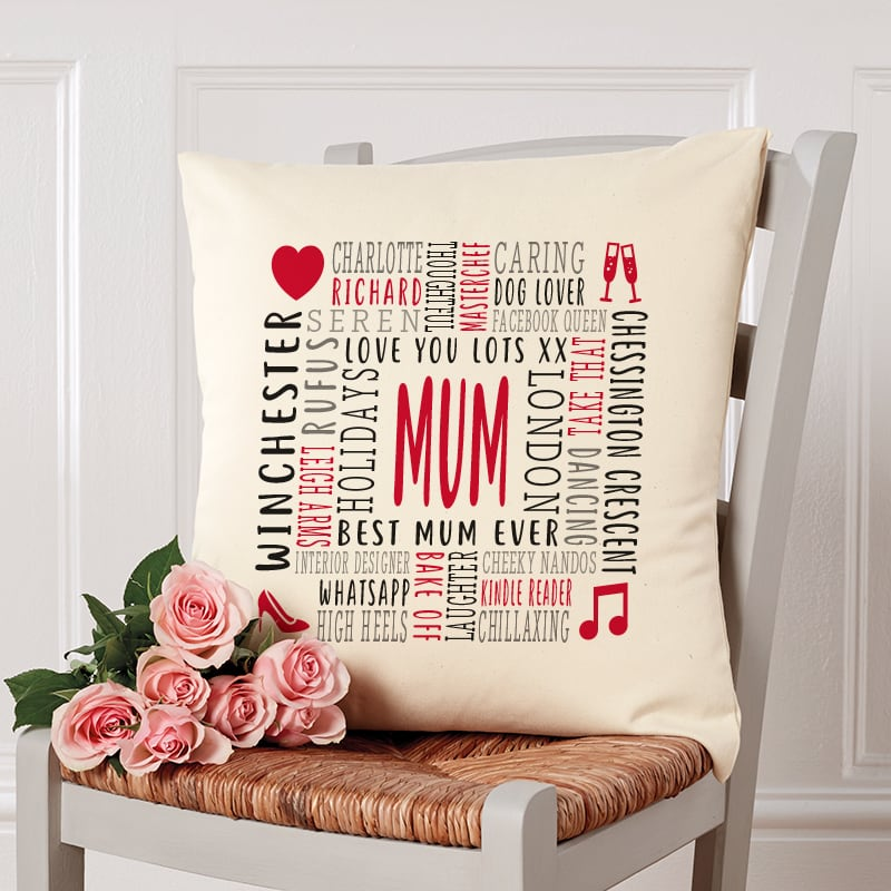 personalised cushion gift for mum