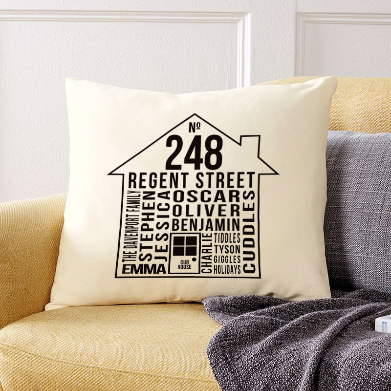house cushion personalised
