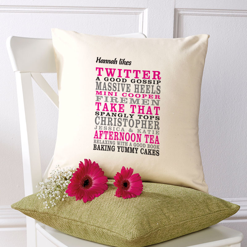 custom cushion your words