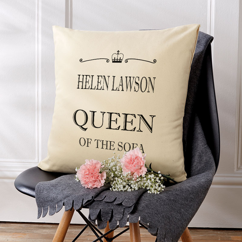custom gift queen of the sofa cushion