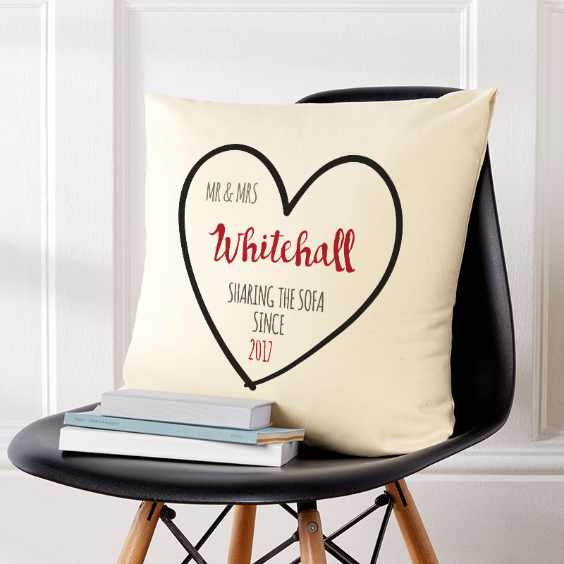 personalised cushion mr mrs