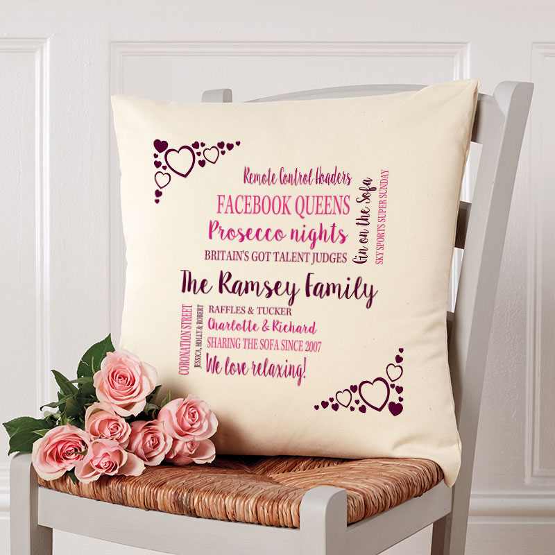 custom cushion family gift sofa