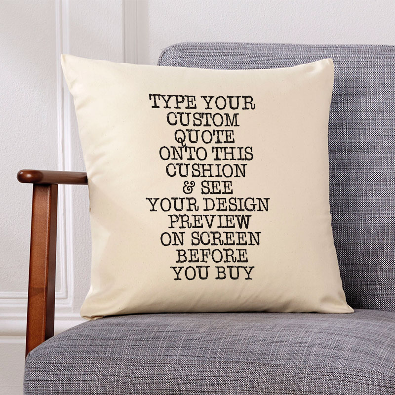 cushion with quote
