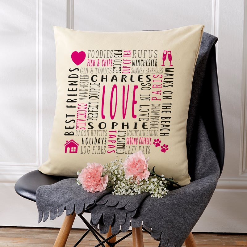 personalised cushion gift for her
