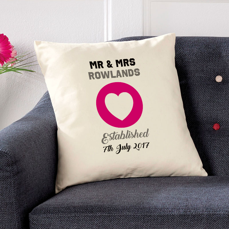 wedding gift ideas personalised cushion