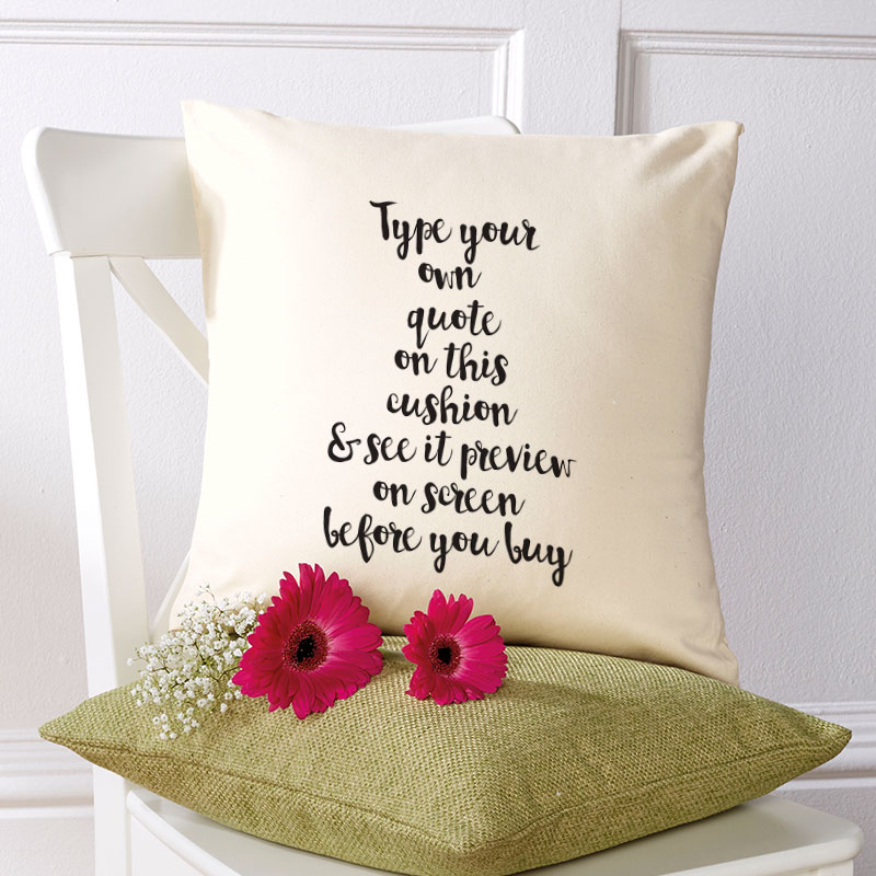 quote on a cushion
