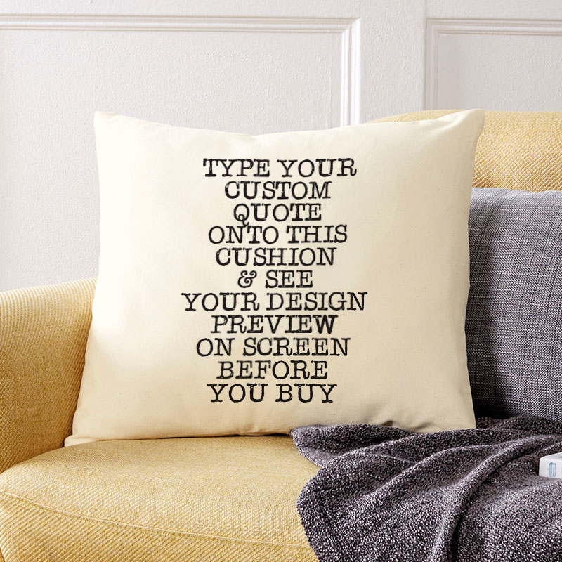 PERSONALISED WORD ART LARGE LUXURY CUSHION COVER ANY OCCASION FREE P/&P