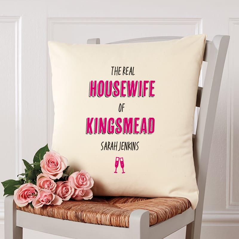 real housewife of cushion gift