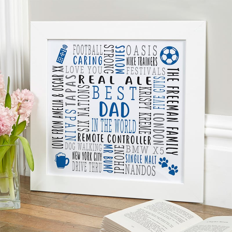 gift ideas for dad custom text wall art