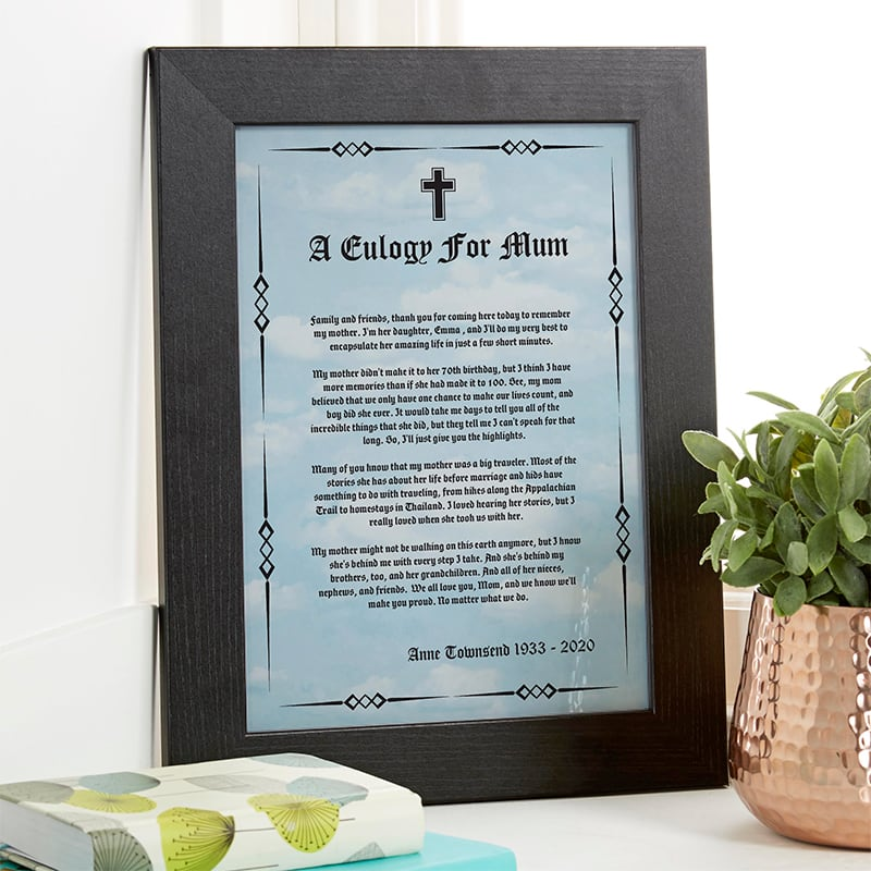 eulogy speech personalised picture