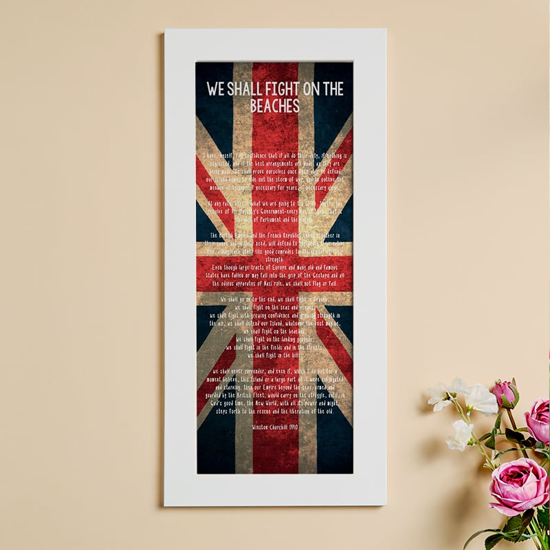 famous speech personalised framed print