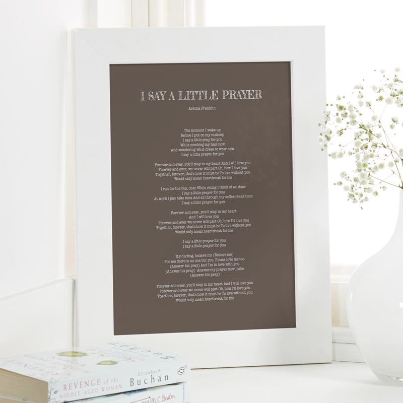 Lyric make your own lyrics : Personalised Song Lyrics Prints & Canvases | Chatterbox Walls
