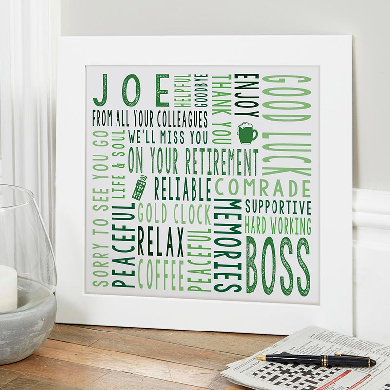 retirement gift ideas personalised