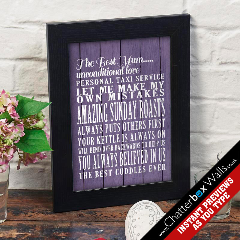 personalised mum print for mothers day