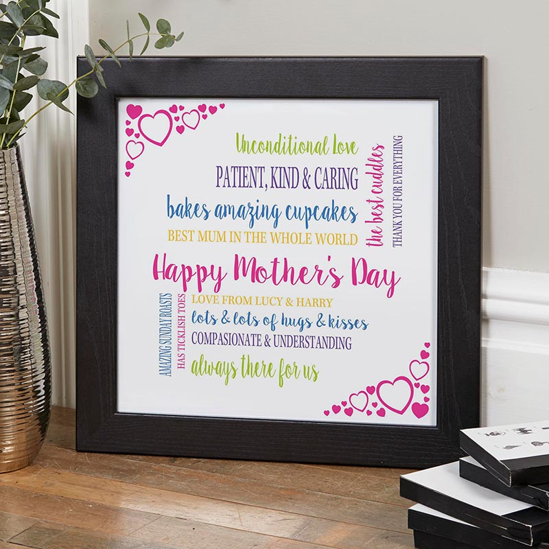 mothers day personalised gift print