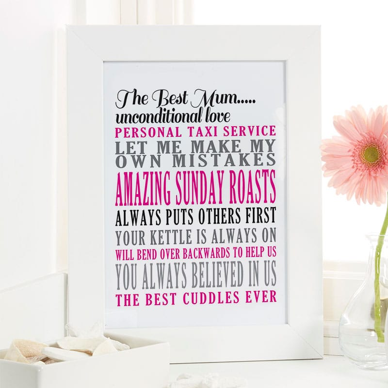 personalised mum gift for mothers day