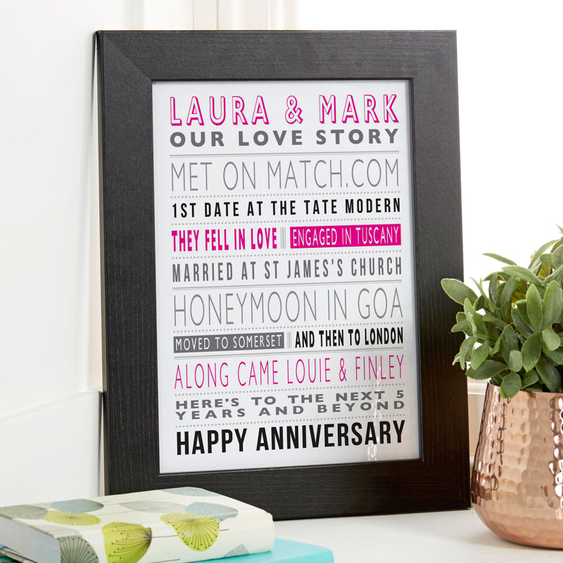 love story personalised gift print