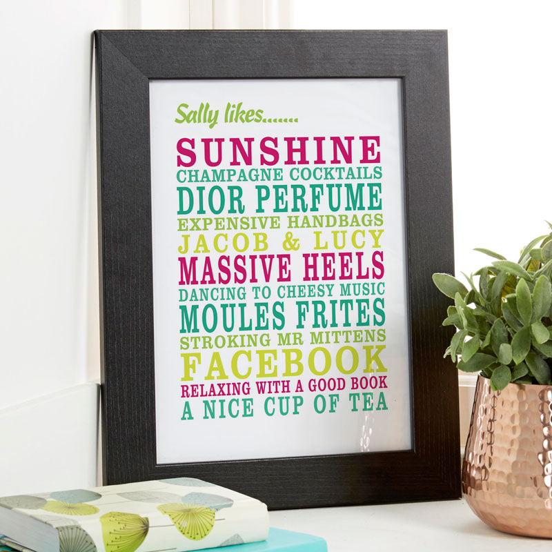 personalised print gift for couples