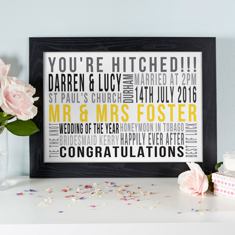 unique wedding gift personalised print