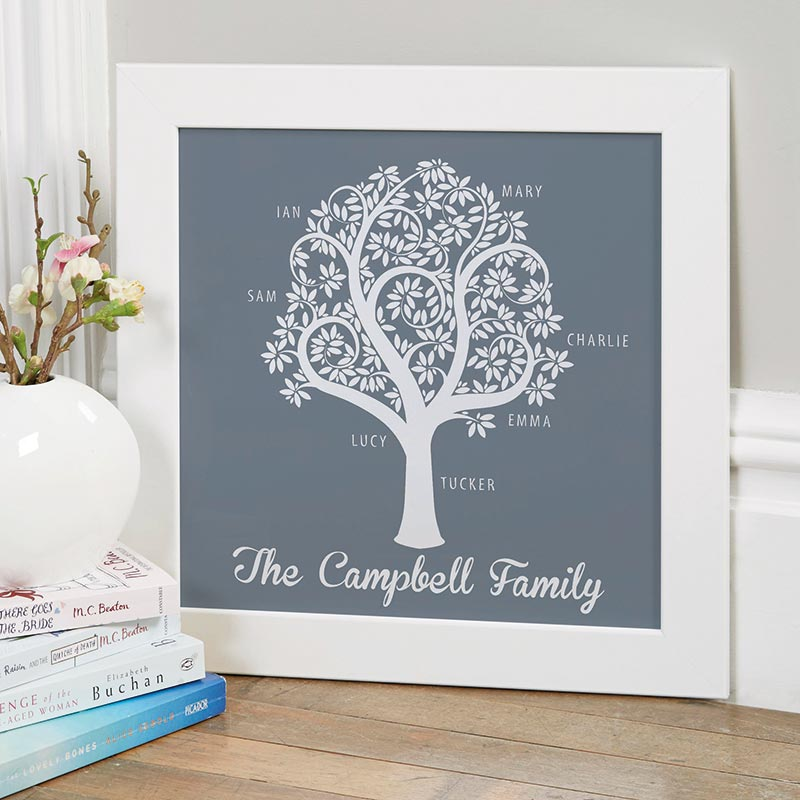 personalised print family tree