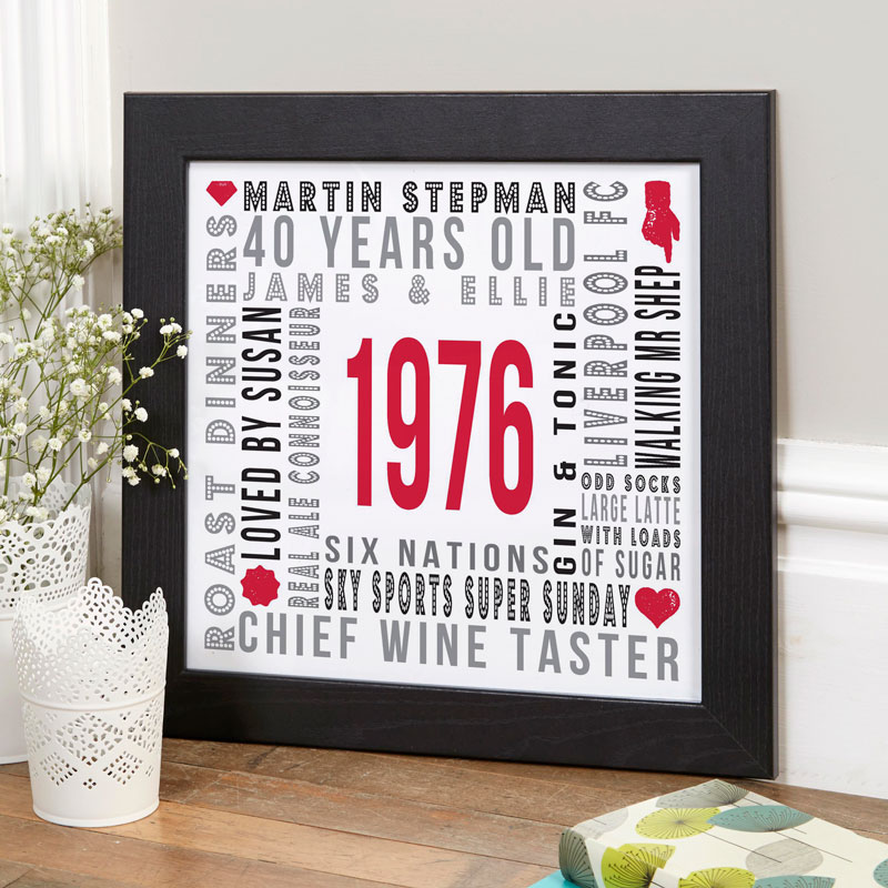 personalised birthday print canvas gift