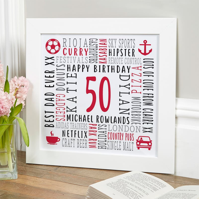 personalised birthday gift ideas word picture