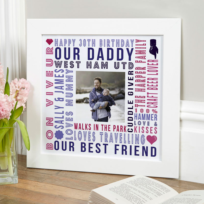 bespoke photo upload print with words film strip