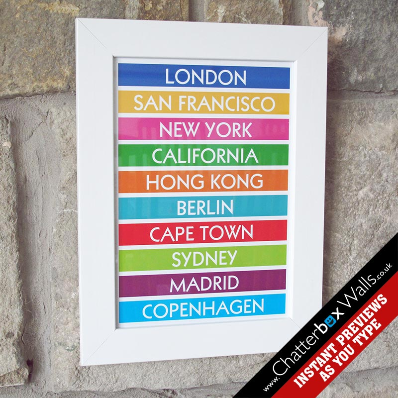 personalised destination print gift