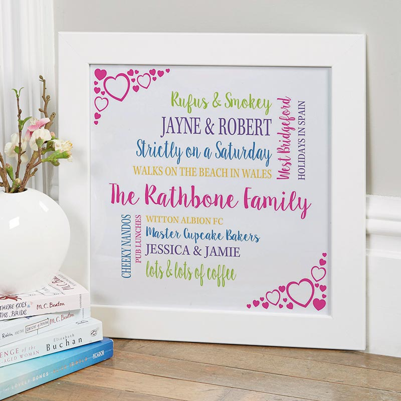 custom word art typography gift