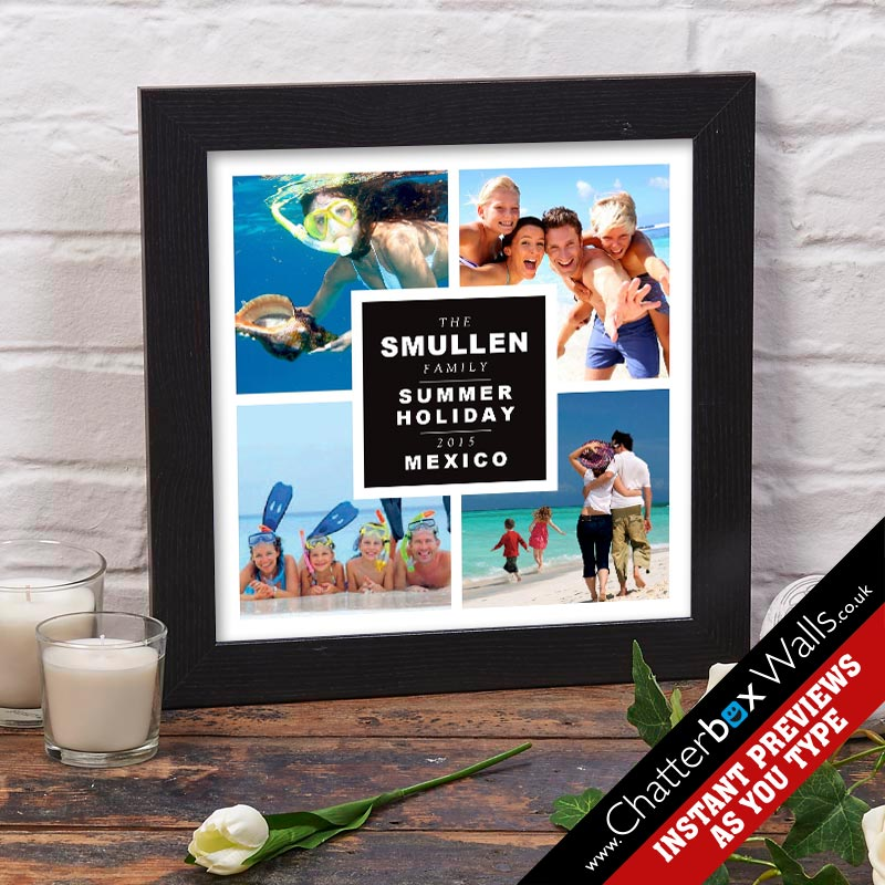 personalised print words photos family holiday