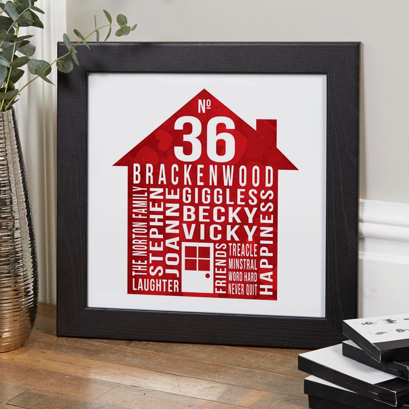 our house personalised family word art print house warming