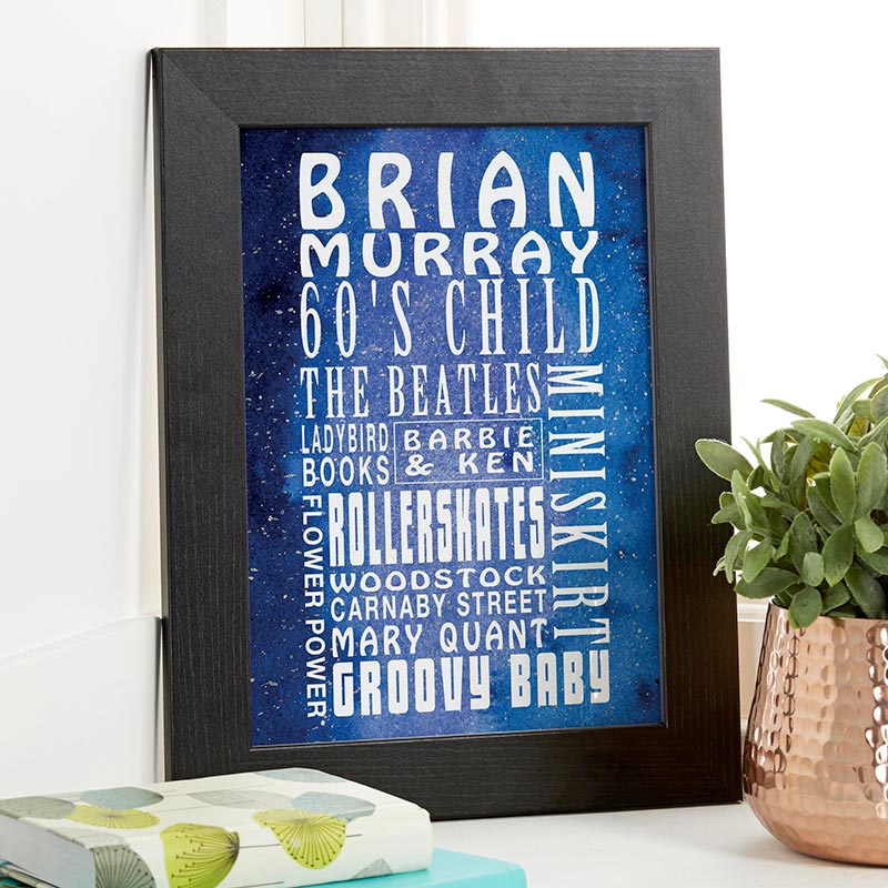 personalised word art birthday present
