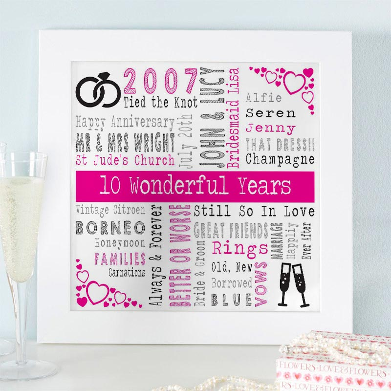 wedding gift word art