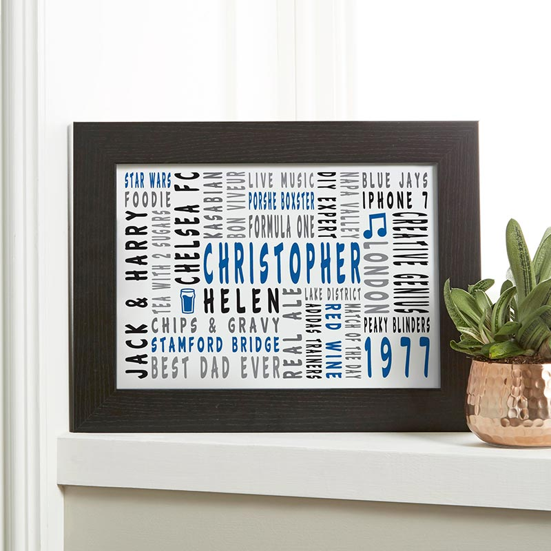 personalised print word art