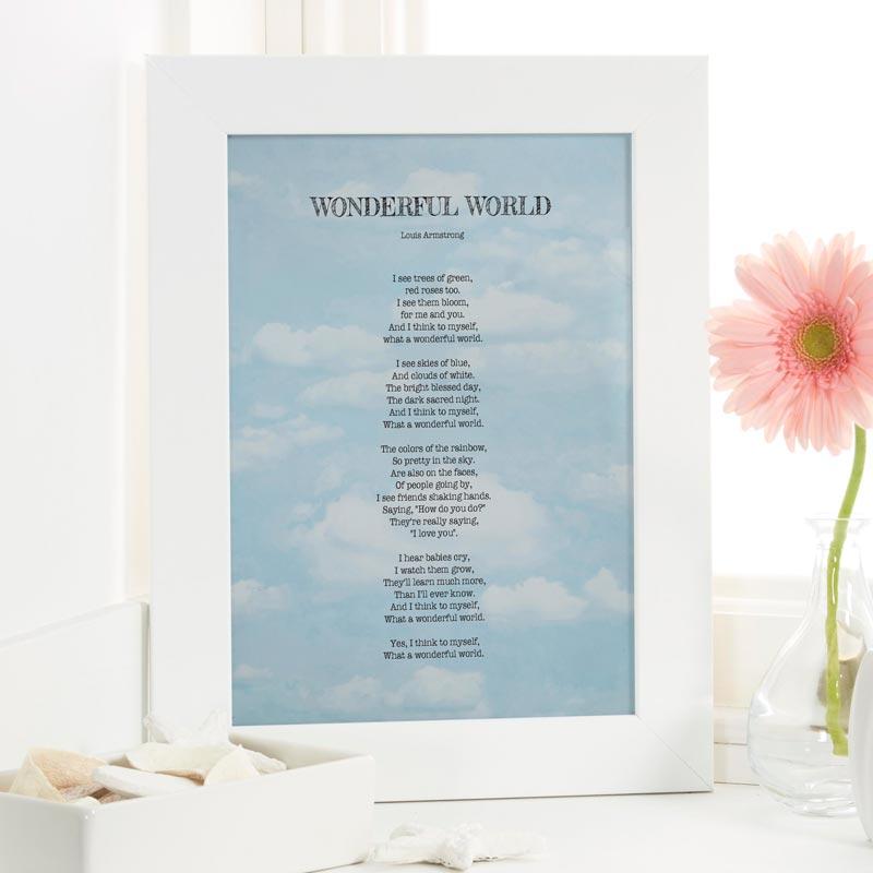 Personalised song lyrics print