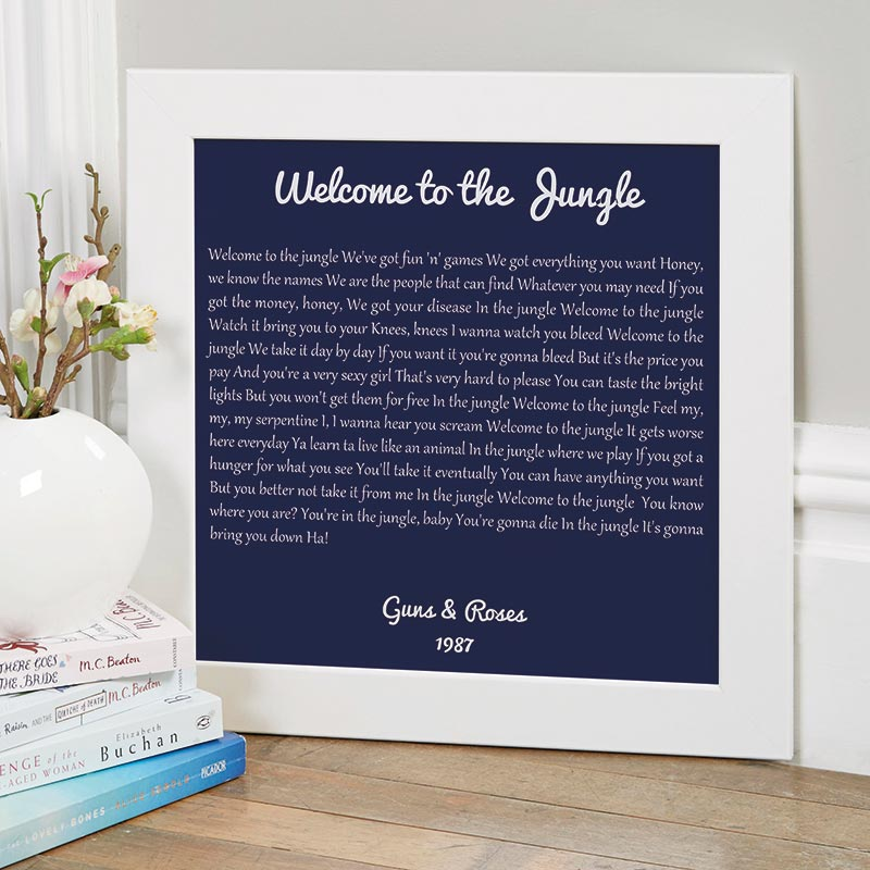Personalised Song Lyrics Prints & Canvases | Chatterbox Walls