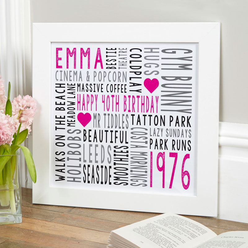 Personalised Typographic Art Prints & Canvases