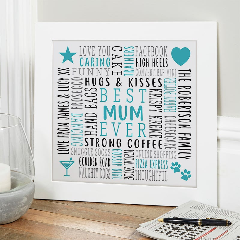gift ideas for mum custom text wall art
