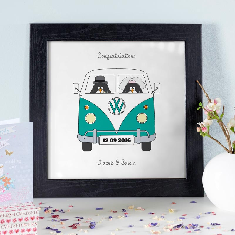 Unusual Personalised Wedding Gifts Uk : Personalised Camper Van Print Wedding or Anniversary Present