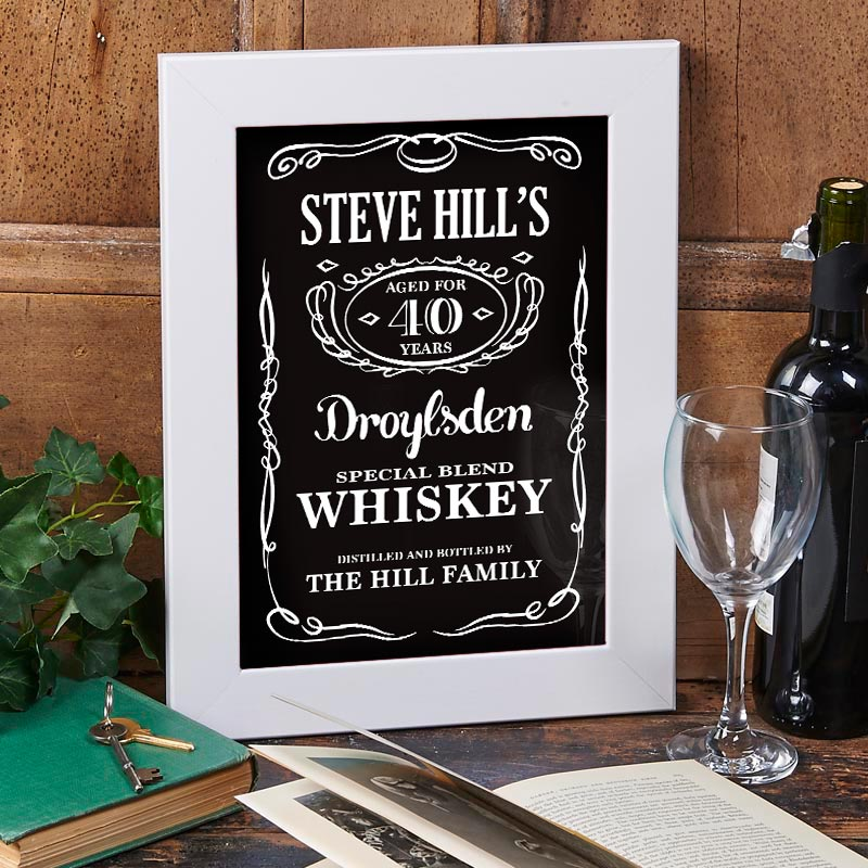 personalised whiskey print
