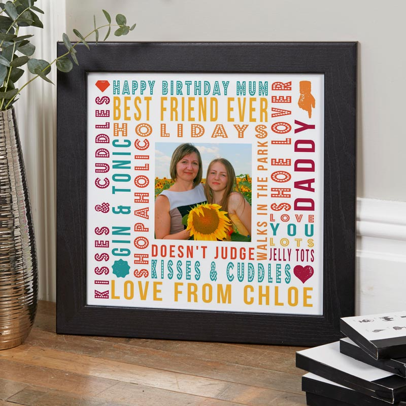 personalised gift for mum photo print with words