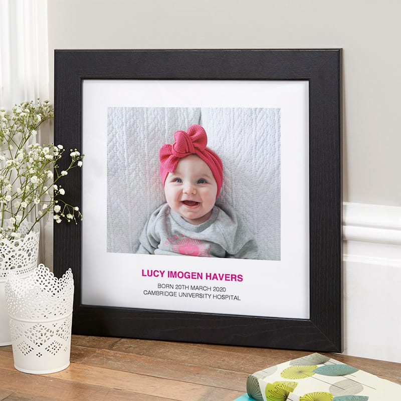 custom child photo with text