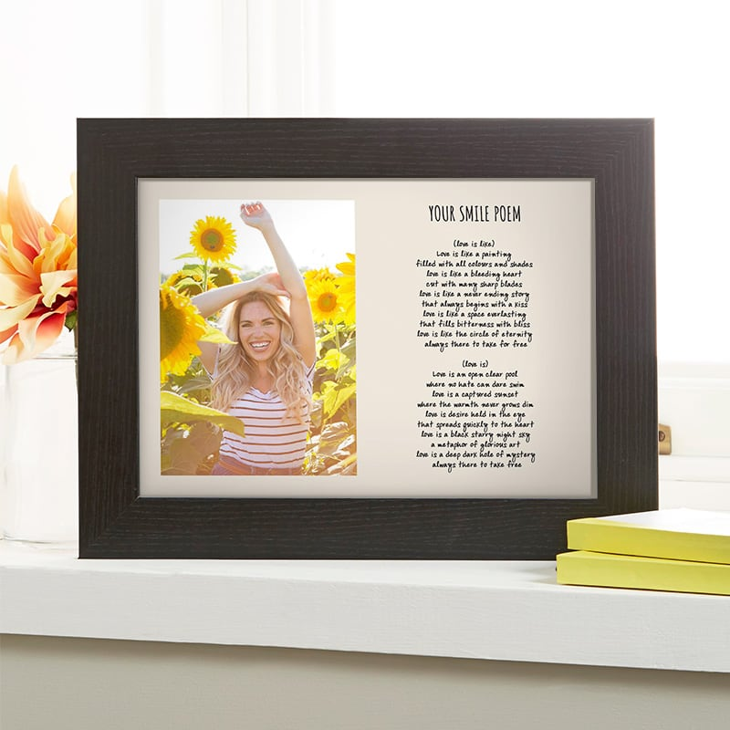 photo poem personalised gift