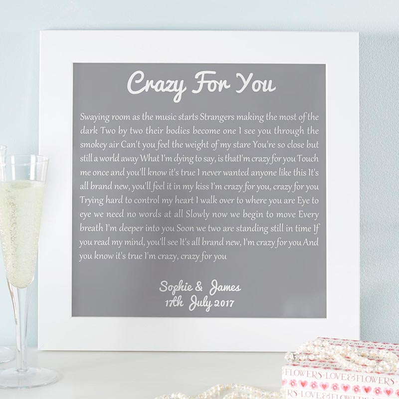 song lyrics wall art