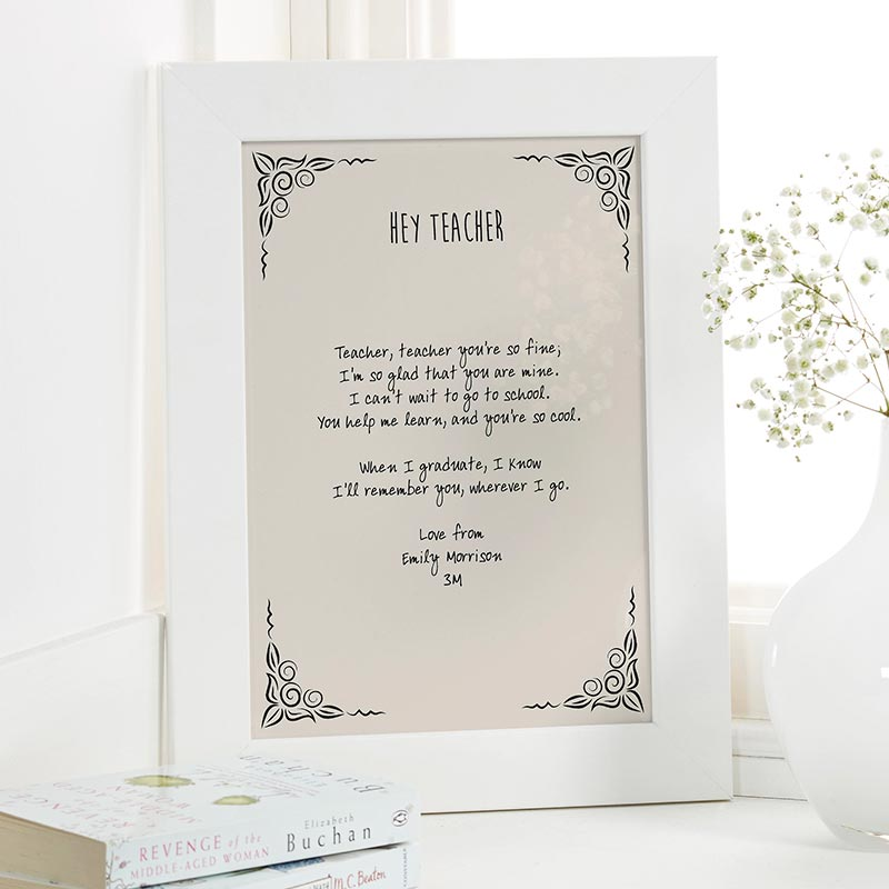 Gifts For Teachers | Personalised Poem by ChatterboxWalls